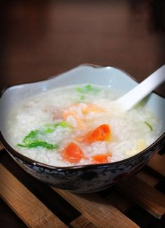 Seafood Congee With Carrot | Top Chinese Cuisine Top Chinese Food