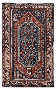 Tappeto caucasico Shirvan, inizio XX secolo rom cambi casa d'este