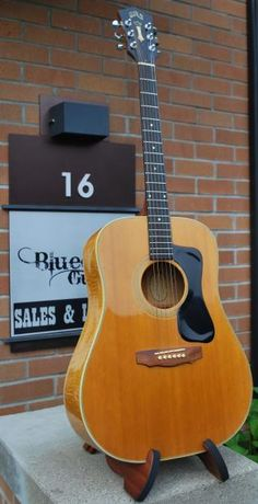 What a beauty! 1973 Guild Guitars in excellent condition! In Flamed Maple with Spruce top, and a pick-up - with the 1 nut width. This guitar is all original, including the hardshell case! At Bluedog Guitars. Guild Acoustic Guitars, Taylor Guitars, Guitar Design, Cool Guitar, Hobbies, Note, Easy, Vintage, You Complete Me