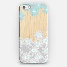 Daisy Dance on Wood iPhone 5s case by Micklyn Le Feuvre | Casetify #wooden #wood #iphone #case #daisies #daisy : )