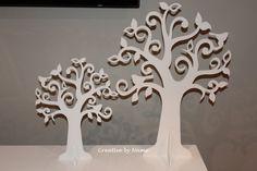Wooden display tree - Open Leave Singing Bird tree