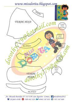 Moldes, Videos Tutoriales y Revistas Gratis de Foami, Goma Eva y microporoso, Compartir es nuestro lema y vayamos por la vida haciendo el Bien Dory, Lema, Templates, Cute, Feltro, Baby Dolls, Toddler Girls, Craft, Activities