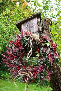 natural red berry wreath