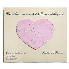 cute idea - Plantable Card Favors
