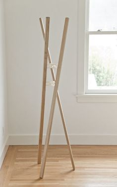Cross Tenon Coat Rack