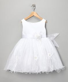 Love this White Rose Dress - Infant, Toddler & Girls by LA Sun on #zulily! #zulilyfinds