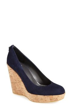 Free shipping and returns on Stuart Weitzman 'Corkswoon' Wedge at Nordstrom.com. A timeless patent pump is set on a cork-wrapped wedge for updated height and classic comfort.