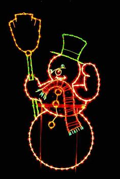 animated christmas light snowman google search
