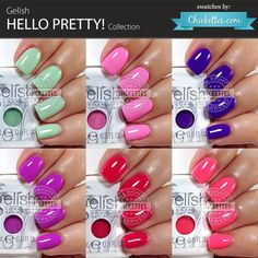 Gelish Hello Pretty! Collecton - swatches by Chickettes.com
