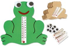 Thermomètre en grenouille - Station météo Tête à modeler
