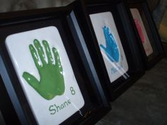 Gift for my brother & sister-in-law for christmas. Keep sake their children helped me with, hand prints in plaster painted up and put in shadow boxes. Turned out better then i expected :D