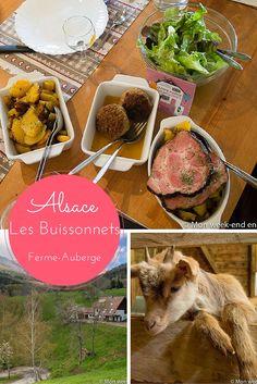 Visite et repas à la ferme auberge Les Buissonnets dans les hautes Vosges d'Alsace