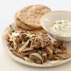 Greeks make souvlaki by marinating chunks of meat (usually pork or lamb) in oil, lemon juice and oregano, then skewering and grilling them. Grace Pari...