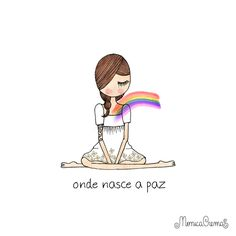 Nada como a paz interior. Monica Crema, Good Vibes Only, Illustrations, Some Words, Positive Vibes, Bible, Positivity, Faith, Cartoon