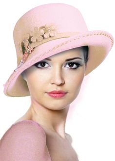 Mr. Song Millinery 47900 Soft Felt Hat with felt flower accent