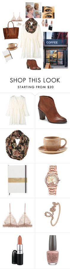 """Coffee shop"" by induecar ❤ liked on Polyvore featuring Coffee Shop, Vince Camuto, Toast, Porsamo Bleu, Sydney Evan, MAC Cosmetics, OPI and Black Rivet"