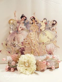 Gorgeous multi-media design created by AngelaHoltDesigns.com using the Fairy Belle Collection by Jodie Lee for Prima Marketing.