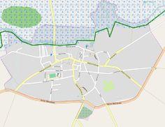 Mapa lokalizacyjna Goniądza