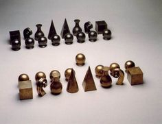 The Man Ray chess set is another option for complimenting a striking minimalistic interior style.