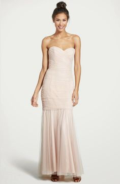 Amsale blush bridesmaid mermaid dress - Nordstroms