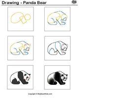 Panda tekenen met kleuters / desenhando+animais