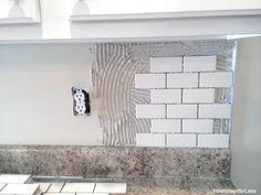 kitchen backsplash DIY tutorial...