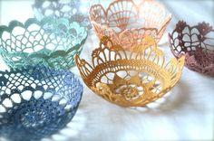 lace crochet bowls