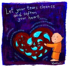 Tears can cleanse