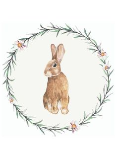 #free #printable Click BUNNY WREATH to download this free printable. Easter Art, Hoppy Easter, Easter Bunny, Easter Printables, Free Printables, Free Printable Art, Bunny Crafts, Easter Crafts, Easter Illustration