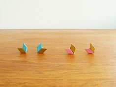 Cute stud earrings made from an unexpected material- cardboard!