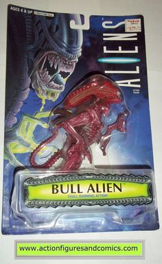 aliens vs predator kenner BULL ALIEN 1996 KB toys movie moc mip mib action figures