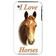 I Love Horses Iphone Case - click on image to view details.