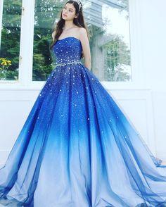 いいね!768件、コメント14件 ― Kiyoko Hataさん(@kiyoko_hata)のInstagramアカウント: 「#weddingdress #dress #couturefashion #instafashion #couture #gradation #ウエディングドレス#ドレス#プレ花嫁…」