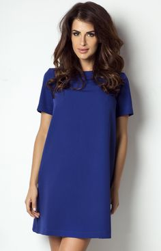 Ivon P17 sukienka chabrowa - ODZIEŻ, Sklep internetowy Angel.pl | Atrakcyjne ceny i wyprzedaże. Kup teraz |chabrowy - 36,38,40,42,44
