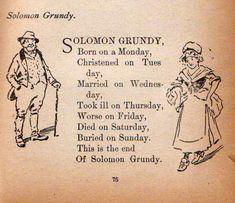 Solomon Grundy poem