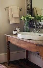 farm table vanity