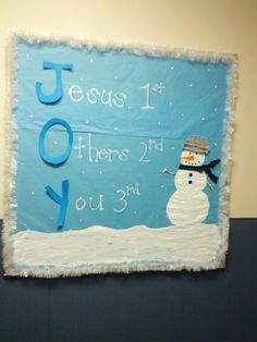 Christmas Joy or Winter Classroom Bulletin Board We just made JOY posters last week...:)