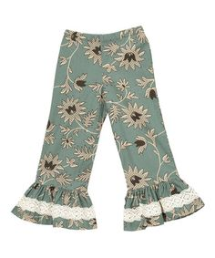 Look at this #zulilyfind! Aqua Kashmir Pants - Infant, Toddler & Girls #zulilyfinds