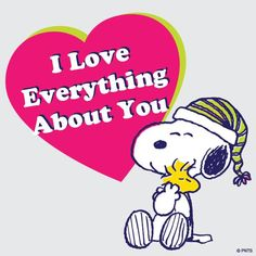I ♡ everything about you Charlie Brown Christmas, Charlie Brown Peanuts, Peanuts Snoopy, Snoopy Love, Snoopy And Woodstock, Snoopy Valentine, Valentines, Snoopy Comics, Peanuts Comics
