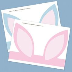 Free Printable Easter Bunny Ears For more Easter craft pins see Clever Classroom's Easter Art and Craft board; http://pinterest.com/cleverclassroom/easter-art-and-craft/
