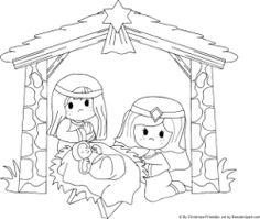 A Nativity Scene printable to send your sponsored child