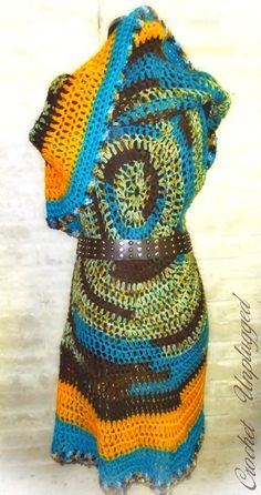 Mandala Vest Hand crocheted Circle Vest by CrochetUnplugged