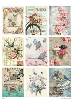 vintage decoupage 39 little birds Welcome to Hobby Profitable Online