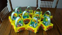 Aydon's Edible Easter Baskets for his class :)