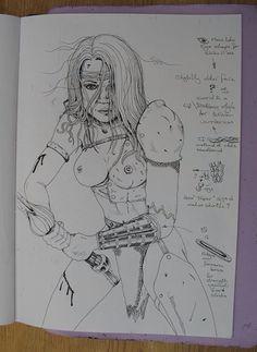 HALF-ELF AT BAY Prelim sketch for a forthcoming artwork