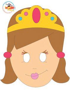 Maschera di Carnevale - Principessa - Stampa, disegna e crea con Filastrocche.it