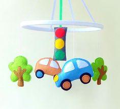 CIJ sale Baby crib mobile,  baby boy mobile , car mobile , car  crib mobile ,Transportation Mobile ,nursery mobile,car,traffic lights,trees