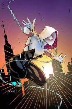 Spider-Gwen by Jake Bartok #SpiderVerse