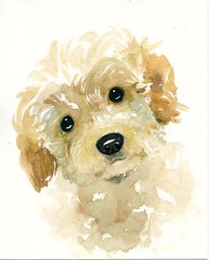 These are some example of a commissioned pet couple portrait original watercolor painting of your pet from a photo you like. --------This listing is for an