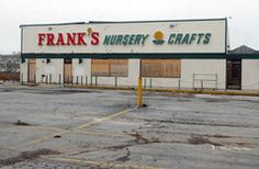 ** Franks Nursery and Crafts/ they had the best selection of indoor and outdoor plants. Christmas season the store was a treasure trove of goodies!